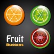 Stock Vector: Frui buttons