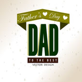 Fathers day vintage — Vector de stock