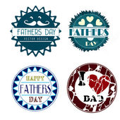 Fathers day icons — Stock Vector