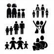 Family silhouette — Stock Vector