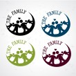 Stock Vector: Family seals