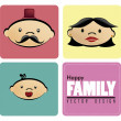 Family icons  — Stock Vector