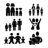 Familie silhouette — Stockvektor