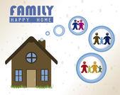 Happy home — Stock Vector