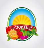 Icono de fruta — Vector de stock