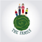 The family — Stock Vector