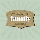 Family frame — Stock Vector