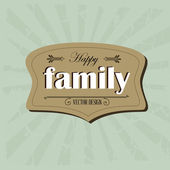Family frame — Stock vektor