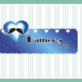 Hearth fathers day — Stock Vector
