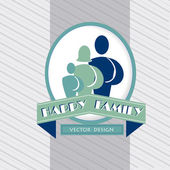 Happy family icon — Stock Vector