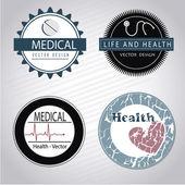 Medical seals — Stock Vector