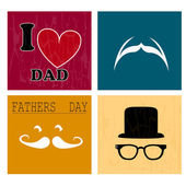 Daddy icons — Stock Vector