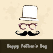 Happy fathers day vintage — Stock Vector