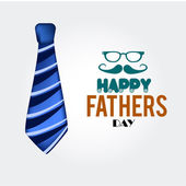 Tie happy fathers day — Stock Vector