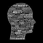 Zihin olumlu — Stok Vektör