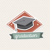 Graduation icon — Stock Vector