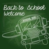 Torna a scuola-benvenuto — Vettoriale Stock