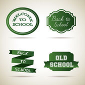 School icons — Vettoriale Stock