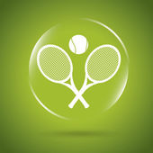 Tennis icon bubble — Stock Vector