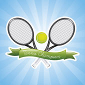 Tennis champions — Stock Vector