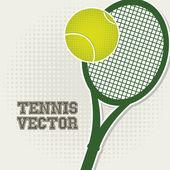 Tennis design grün — Stockvektor