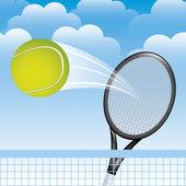 Tennis landscape — Stock Vector
