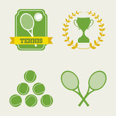 Tennis icons — Stock Vector
