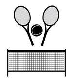 Monochrome tennis design — Stock Vector
