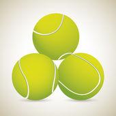Three tennis ball — Stock Vector