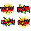Comics icons  — Stock Vector
