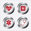 Healthy icons gray — Stock Vector #25860373