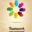 Teamwork hands — Stock Vector #25861809