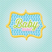 Baby shower frame — Stock Vector