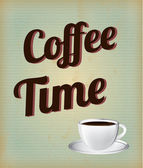 Temps de café — Vecteur