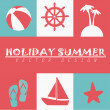 Stock Vector: Holiday summer