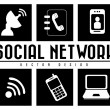 Royalty-Free Stock Vector Image: Monochrome social network