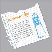 Letni dzień — Wektor stockowy