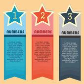 Infographics letterheads — Stock Vector