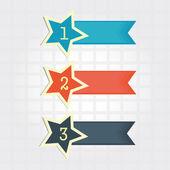 Numerical star — Stock Vector