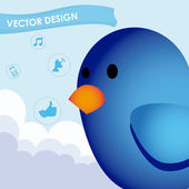 Bird design — Stock Vector