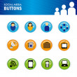 Social media buttons — Stock Vector