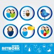 Social networks — Stock Vector