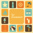 Stock Vector: Time summer icons