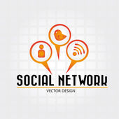 Social network — Vector de stock