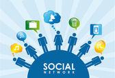Social icons — Vector de stock