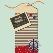 Summer label — Stock Vector