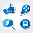 Royalty-Free Stock Vector Image: Social icons