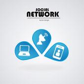 Social network bulbs — Stock Vector