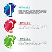 Numeric coins — Stock Vector