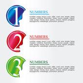 Numerische münzen — Stockvektor